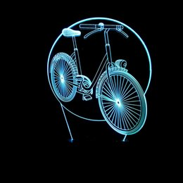 $enCountryForm.capitalKeyWord Australia - Festival Celebration Plane 3d Modeling Bicycle Small Night-light Colorful Remote Control Touch Bicycle Led Gift Atmosphere Small Desk Lamp