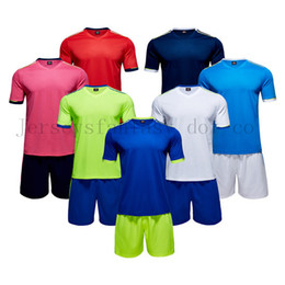 top quality youth soccer jerseys Canada - Top Quality Men and Youth Cheap Soocer Jerseys Football Sets Blank Comfortable Training Suits Size S to 3XL Thirteen Colors
