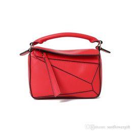 $enCountryForm.capitalKeyWord Australia - Fashion Patent Scrub Geometric Stitching Color Design Leather Women Clutch Bag Mini Shoulder Bag Clutch Bag