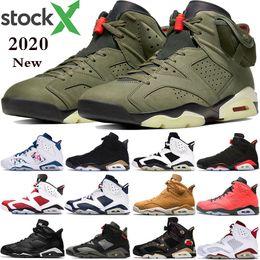 2019 Nike air jordan 6 homens Preto Infravermelho 6 6 s Sapatos de Basquete dos homens CNY Carmine Gatorade Verde Tinker UNC Gato Preto Sapatos Formadores tênis US 7-13 em Promoção
