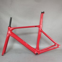 New EPS technology custom red paint carbon fiber T700 Bottom bracket BSA fixed gear frame FM279 on Sale
