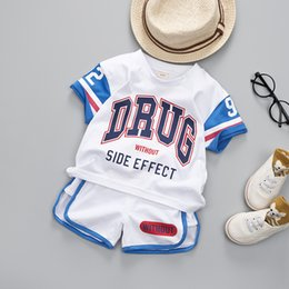 $enCountryForm.capitalKeyWord Australia - Summer Toddler Boy Sports Wear Set Children Football Uniforms Clothing Basketball T-shirt Boys Suit Kids Clothes Q190601