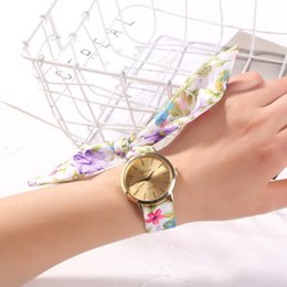 f5c86ce3d Lovely Girl Bracelet Watch Women's New Dress Watch Fashion Flower Cloth  Design High quality Hot sales 2019 Reloj Mujer XC