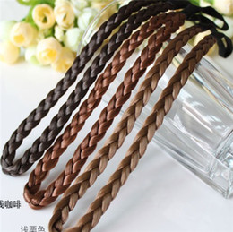 princess braiding hair Australia - Fashion wig braid headband, elastic twist braid headband popular princess hair band