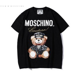 Chinese  hot selli 2019 Summer New Moschin O Tee Cotton Short Sleeve Breathable Women men Moschinos Swing Bear Casual Outdoor Streetwear T-shirts 836 manufacturers