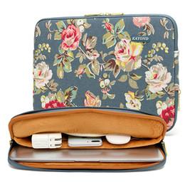 $enCountryForm.capitalKeyWord Australia - Women Flower Laptop Sleeve Case for Macbook Air 13 Dell HP 11 14 15 Notebook Computer Tablet PC Cover Bag Waterproof Canvas