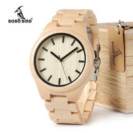 531c457b3fb BOBO BIRD WG30 Top Brand Designer Watch Men Full Pine Wooden Watches Maple  Wood Japan Movement Quartz Watches Wood Gift Box