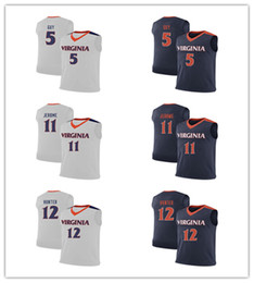60c913a5c40 Virginia Cavaliers #11 Ty Jerome #12 De'Andre Hunter #5 Kyle Guy College Basketball  Jersey Men's Stitched Jerseys Customize any Number name