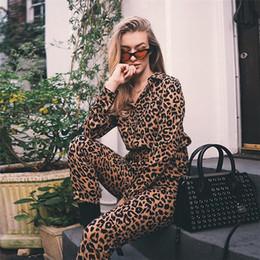 $enCountryForm.capitalKeyWord Australia - BKLD Leopard Jumpsuits Women Belted Elegant Jumpsuits Overalls 2018 Fashion Winter Single Breasted Long Sleeve Rompers