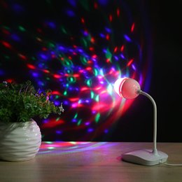 $enCountryForm.capitalKeyWord Australia - USB portable desk lamp Ball RGB3 color Connect computer stage light Colorful rotating light Family disco