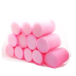 12pcs / set éponge Core Forte Rouleaux de Cheveux Autocollants Grandes Vagues Air Bang Sommeil Curling Curlers Moelleux Curl Maker U1101