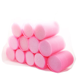 $enCountryForm.capitalKeyWord UK - 12pcs set Sponge Core Strong Self-Adhesive Hair Rollers Big Waves Air Bang Sleep Curling Curlers Fluffy Curl Hair Maker U1101
