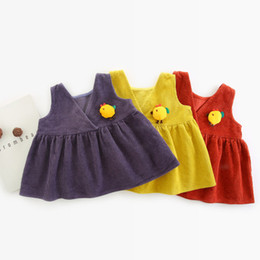 ad5f349297c7 WLG girls casual spring autumn dresses kids sleeveless ruffle vest-dress  baby casual all match clothes children 1-5 years old