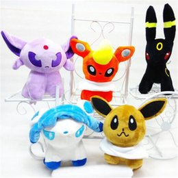 $enCountryForm.capitalKeyWord NZ - 7.9inch Stuffed Animals Anime Plush Toy Dolls 5pcs set Umbreon Eevee Espeon Jolteon Vaporeon Soft for Doll Toys Children Gift Cute