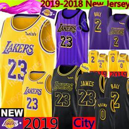 LeBron James Los Angeles 23 Lakers Jersey Lonzo 2 Ball Kyle 0 Kuzma Brandon  14 Ingram 24 Kobe 8 Bryant Basketball Jerseys af19dfa30