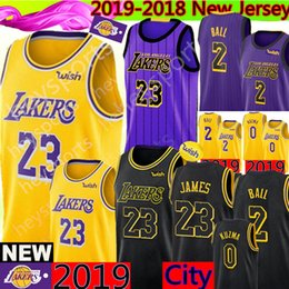 Discount men balls - Los Angeles 23 LeBron James Lakers Lonzo 2 Ball Kyle 0 Kuzma 14 Brandon # Ingram 24 Kobe # Bryant Basketball Jerseys