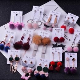 $enCountryForm.capitalKeyWord Australia - Wholesale 10 20 50 Pairs Mixed Lots Long Tassel Pom Pom Earrings Cute Brincos Geometric Pendientes Dangle Earrings Women Gift Y19062901