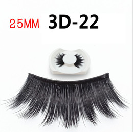 $enCountryForm.capitalKeyWord Australia - 25mm New Eyelashes 3D-22 2019 Women's Handmade 3d False Eyelashes Hot Exaggerated Eyelashes Full Strips single pair Black Color Extra Thick