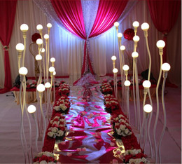 Chinese  Modern Design wedding light road lead walkway lead road LED lights 5 pvc lamp post any curved road lead light walkway decorations manufacturers