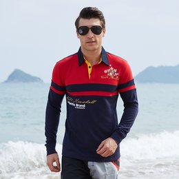 polyester mens polo shirts Australia - Autumn Spring Long Sleeved Polos Mens Clothes Casual Polo Shirts Tshirts Tops