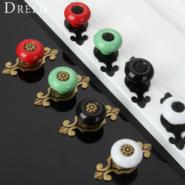 Ceramic Kitchen Cupboard Handle Pulls Australia - chair DRELD Vintage Ceramic Cabinet Knobs and Handles Door Cupboard Drawer Kitchen Pull Handles Furniture Fittings