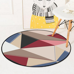 european chairs Australia - Geometric Round Carpet For Living Room Children Bedroom European Rugs And Carpets Computer Chair Floor Mat Cloakroom Carpet
