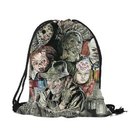 $enCountryForm.capitalKeyWord UK - Fearful Movie Character Chucky Jason Freddy Collage String Bag Women Men College Students School Travel Shoulder Bags Mochila