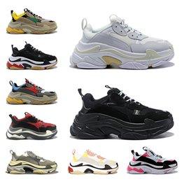 Balenciaga Triple S Shoes Triple-s designer Paris 17FW Triple s Sneakers for men women black red white green Casual Dad Shoes tennis increasing sneakers 36-45 im Angebot