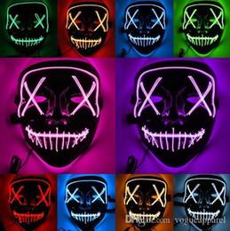 $enCountryForm.capitalKeyWord Australia - Halloween Creepy Led Light Masks 8 Colors Fluorescence Cool Party Masks Pvc Skeleton Costume Accessories Fashion