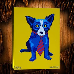 Figure Club Australia - Blue Dog Lunch at the Club,1 Pieces Canvas Prints Wall Art Oil Painting Home Decor (Unframed Framed) 24X32.
