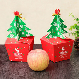 $enCountryForm.capitalKeyWord NZ - 2Pcs Merry Christmas Apple Candy Box Bag 3D Christmas Tree Eve Gift Box Dessert Folded Paper Bag Container Festival Gifts Bags