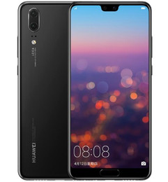 Android Unlocked Dual Camera Australia - Original Huawei P20 Unlocked Cell Phone Octa Core 64GB 128G 5.8 inch 24MP Dual Rear Cameras Full View Screen Android 8.1