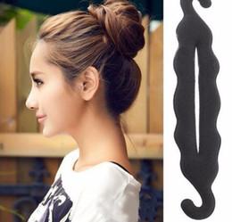 $enCountryForm.capitalKeyWord NZ - 1pcs Quality Women Foam Sponge Twist Hair Donut Quick Messy Device Hair Bun Headwear Styling Hair Accessories