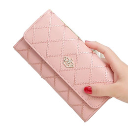 $enCountryForm.capitalKeyWord Australia - New Designer Women Wallets PU Leather 19227 Lady Purses Cover Female Embroidery Crown Pattern Coin Pocket Clutch Card Holder