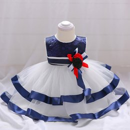 Ball frock design online shopping - 2019 Summer Newborn Princess Dress Kids Frocks Designs Small Baby Communion Party First Birthday Dress For Girl Child L1834xz