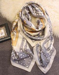 $enCountryForm.capitalKeyWord Australia - Euro Styliash Large Silk Scarf 140*140cm High Quality Luxury Designer Scarves And Shawls Wraps Hijabs Pashmina Beach Coverup Winter Muffler