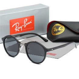 Square Shape Sun Glasses NZ - Top quality ray2140 wayfarer sunglasses matt black square shape 50mm designers sun glass blue gray mirror lenses uv protection sunglass11