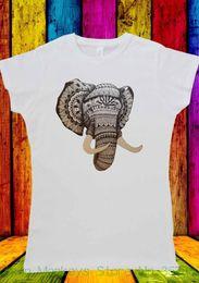 c6fc7c9d12084 Women s Tee Elephant Drawing Esthetic Tumblr T-shirt Men Women Unisex 1834  Shirt Sexy Femme