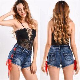 Wholesale denim models resale online - 2020 Spring Explosion Models with Tassel Womens Denim Shorts Hot Sexy Explosion Models Mid waist D6075