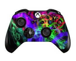 $enCountryForm.capitalKeyWord Australia - 10pcs lot Colorful American Skull Style Vinyl Skin Sticker For Xbox One Controller Video Game Decal