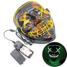 Wholesale flash costume resale online - LED Light Mask Up Funny Mask from Festival Cosplay Halloween Costume Three speed flash mask bar dance styles hot gift