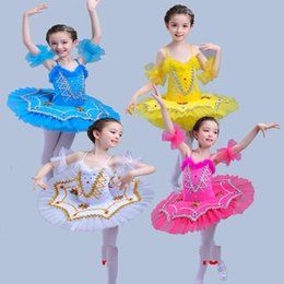 Red White Blue Tutus Australia - Ballet Costume Black White Ballerina Dance Dress Women Ballet Dance Clothes Girls Tutu