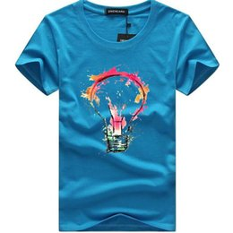 T Bulbs Australia - New Summer Casual Short Sleeve T-shirt Men Fashion Color Bulb 3d Print Funny T-shirt Homme Size 5xl Brand Cotton Tee Shirt Men