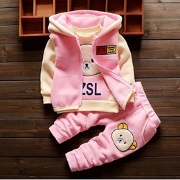 $enCountryForm.capitalKeyWord Australia - good quality baby girl sets autumn and winter children's suit cotton thick double-sided cashmere cap long-sleeved three-piece