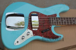 Mahogany Jazz Bass Body UK - Free shipping High Quality Custom body mahogany body 4 string FD Signature Sky blue Jazz Bass guitars