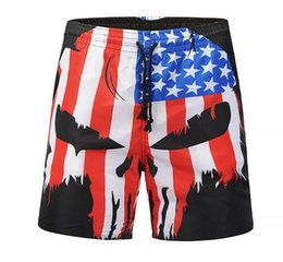 Chinese  2019 US Popular summer Gothic Hawaii Beach 3d Print Shorts Vacation holiday beach pants quick dry shorts Knee Length HipHop Board Shorts manufacturers