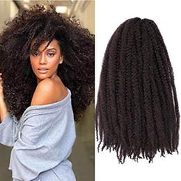 $enCountryForm.capitalKeyWord Australia - Braids Hair Synthetic Afro Kinky 6Pcs  Lot 18 Inch Women Fashion Twist Crochet Soft Kinky Crochet Briaids Extensions