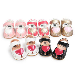 Discount baby cribs girls 2020 Newborn Infant Baby Girls Princess Shoes Toddler Summer Sandals PU Non-slip Rubber Soft Crib Shoes Baby Slipper Fir