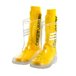 Wholesale Children Boy Rainboots Clear Kids Girl waterproof Shoes PVC Soft Rain Boots High Top Students Girls boys Rubber Rainboots T200630