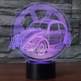 $enCountryForm.capitalKeyWord Canada - Remote 16 Color Novelty 3D Beetle Car Modeling Led Desk Lamp Colors Changing Illusion Vehicle Nightlight Usb Touch Light Fixture Bedside
